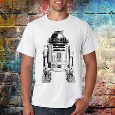 R2D2 star wars T shirt Movie shirt Jedi shirt Unisex T