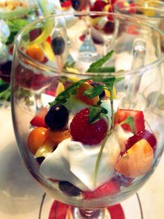 Parfait griego de frutos mini