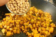 #Curryvegetariano con #zucca e #ceci