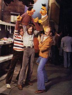 sesame street backstage...