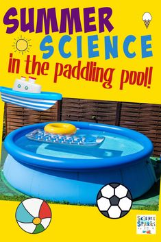 Fun ideas for science experiments you can do in the paddling pool. Brilliant summer science and STEM challenges for kids!