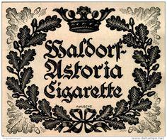 Original-Werbung/ Anzeige 1924 - WALDORF - ASTORIA CIGARETTE - ca. 140 x 110 mm
