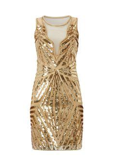 Bridesmaid Dress Option: On Etsy UK6 US2 AUS6 Gold Vintage inspired 1920s vibe by Gatsbylady