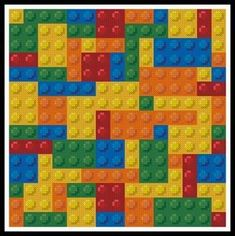 Stitch cross Squared Cross Pattern lego X stitch Stitch patterns Blocks Cross Mini