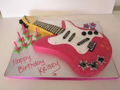 Rock Star Guitar on Cake Central