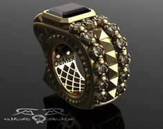Men's pinky ring in very heavy solid gold 7ct от DeMerJewelry