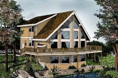 Contemporary Style House Plan - 3 Beds 2 Baths 1995 Sq/Ft Plan #102-204 Exterior - Front Elevation - Houseplans.com