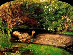 John Everett Millais:Ophelia often wonders about her namesake and Elizabeth Siddel the model who posed for the painting