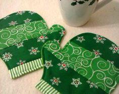 Set de alfombras posavasos taza de corazón de por SewSweetSparrow