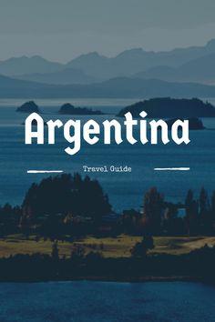 mapa turístico de la Argentina