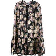 Erdem Angela Floral Embroidered Cape (€1.770) ❤ liked on Polyvore featuring outerwear, erdem and cape coat