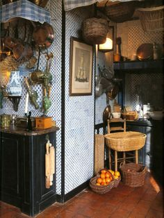 century kitchen refurbished designer  Jacques Garcia photo  Marc Walter  from  Jacques Garcia (Decorating in the french style) b618565b023