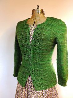 Lovely feminine cardigan with waist shaping - nice detail on the back too!