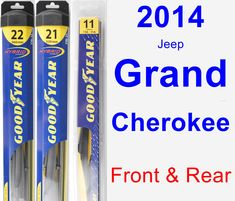 Front & Rear Wiper Blade Pack for 2014 Jeep Grand Cherokee - Hybrid