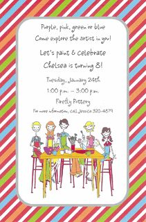 Pottery Party Invitations
