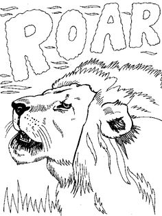 free roaring lion coloring pages - photo#44