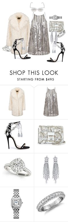 """""""Dancin at the midnight hour"""" by blujay1126 ❤ liked on Polyvore featuring Wes Gordon, Marchesa, Roger Vivier, Allurez and Blue Nile"""