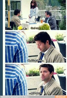 Cas is so adorable when he doesn't understand modern slang...