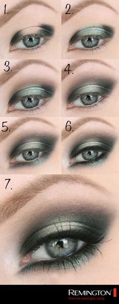 Aplica sombras en tonos metálicos para lograr un look de noche espectacular. #Eyes #makeup #DIY #style #tips #look #woman