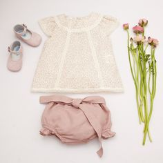 So sweet and pretty! Newborn flower girl outfit