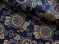 "Liberty of London-plumes-white, turquoise, magenta on soft orange vintage print fabric 100% Cotton 45"" wide"
