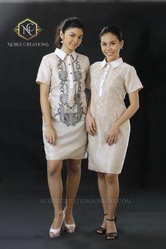 Barong Tagalog for her. Silk Barong Dress.