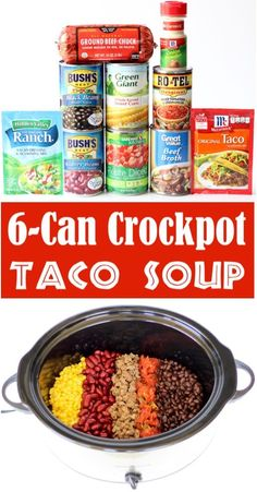 Taco Soup Recipe Easy Crock Pot Beef Soup Can Crockpot Southwest Supper} This delicious quick prep dinner is one of the EASIEST things you'll make all week! Go grab the recipe and give it a try! Food Recipes For Dinner, Food Recipes Keto Taco Soup Recipe Easy Crock Pot, Crock Pot Tacos, Crockpot Dishes, Easy Soup Recipes, Crock Pot Cooking, Quick And Easy Taco Soup Recipe, Recipes Dinner, Crock Pot Beef, Crock Pot Dips