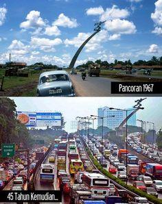 Jakarta 1967 and present