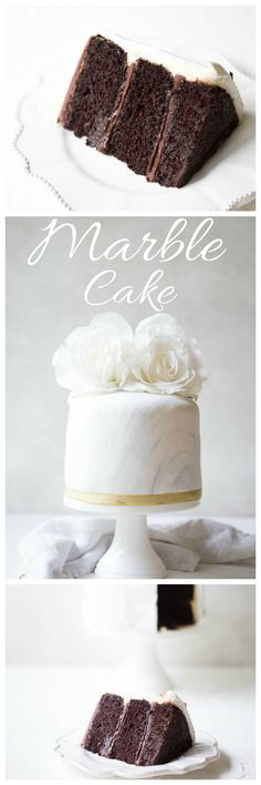 Trendy marble effect fondant covering a three layered gluten free chocolate cake inside. Binded together with chocolate and vanilla frosting, perfect for that special occasion! | wholesomepatisserie,com