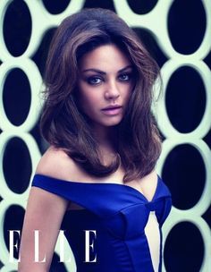 Mila Kunis Elle UK July 2012 - Her hair, her makeup, she's simply gorgeous!