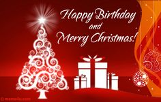 wish merry christmas and happy birthday together with our christmas birthday card you can even browse more ecards on christmas from our huge collection of