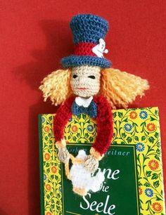 Mad Hatter Bookmark - CROCHET