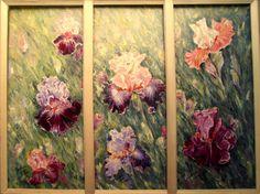 Iris, Oil On Canvas, Painting, Irises, Painted Canvas, Painting Art, Paintings, Oil Paintings