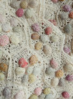 Whimsical textured scarf hand crocheted of linen. From Sophie Digard. 6.5 x 40 inches