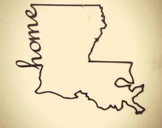 "24"" Louisiana Home metal sign"