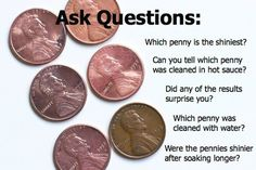 Six Ways to Clean a Penny: A Simple Science Experiment - Playful Learning