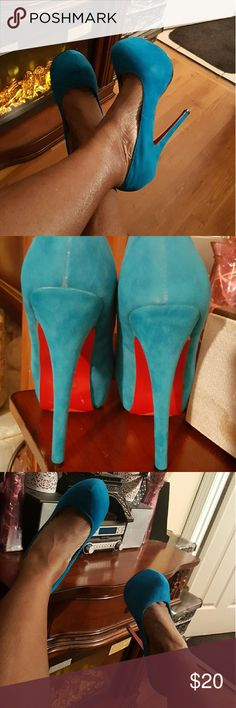 Beautiful blue red bottom heel These heels are sure to make you feel fabulous Shoes Heels