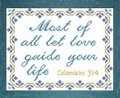 Cross Stitch Bible Verse Colossians The Lord is close to the Most Of All and saves the crushed in spirit, Just Cross Stitch, Cross Stitch Kits, Cross Stitch Charts, Cross Stitch Designs, Cross Stitch Patterns, Cross Stitching, Cross Stitch Embroidery, Wedding Cross Stitch, Colossians 3