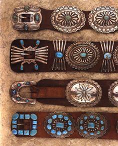 Vintage concho belts