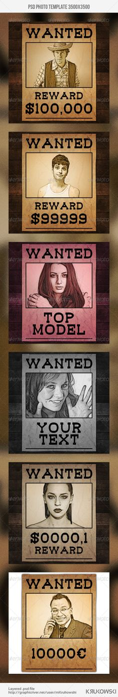 Wanted Poster Template  Template Google Fonts And Print Templates