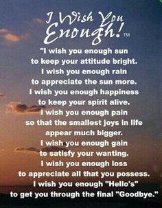 i wish you enough poem - Google Search