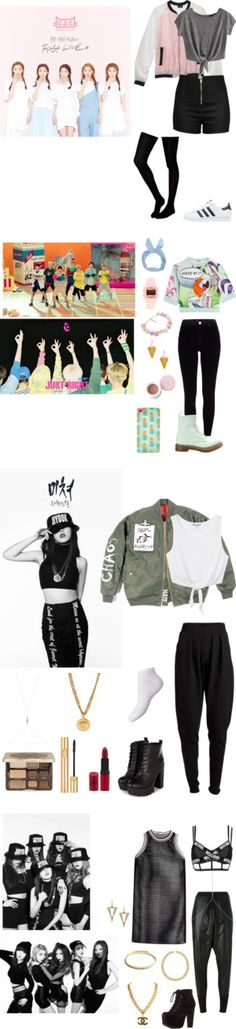 """Kpop MV Inspired Outfits"" by dropletsofkaisoo on Polyvore"