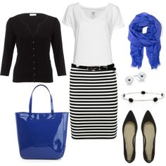 Royal Accents, created by bluehydrangea on Polyvore    Already have the flats and cardigan