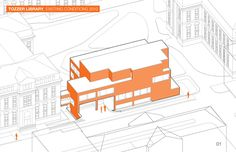 axo_Tozzer Anthropology Building / Kennedy & Violich Architecture | ArchDaily