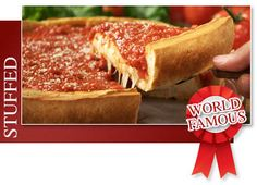 Try Chicago's famous deep dish pizza at Giordano's. Located near the Aon building at 135 E Lake St, Chicago, IL 60601. mmmmm.