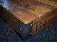 Deposit for Factory Cart Coffee Table Reclaimed Wood by IADECOR, $225.00