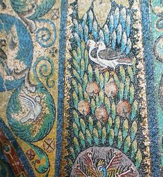 italian bird floor mosaic - Google Search