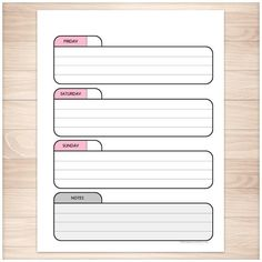 Printable Blank Weekly Calendars Templates  Printable