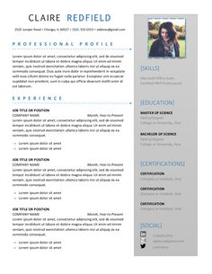 Cute Menu Style Resume  Posts Related To Pages Resume Templates