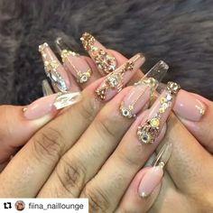 by @fiina_naillounge ・・・ Birthday nails @fiinanails_bygen  @oceannailsupply .  #hudabeauty #nailartist #nailpro #wakeupandmakeup #nailstagram #nailsofinstagram #fashion #nailaddict #ombre #nailsoftheday #nails2inspire #nailart#wedding#bridalnails#wedding#whitenails#frenchnails#coffinnails#nailfashion #أظافر  #ネイル#lacenails#handdrawing#allacrylic#swarovski#swarovskicrystals#pinknails#lovepink#gold#goldnails